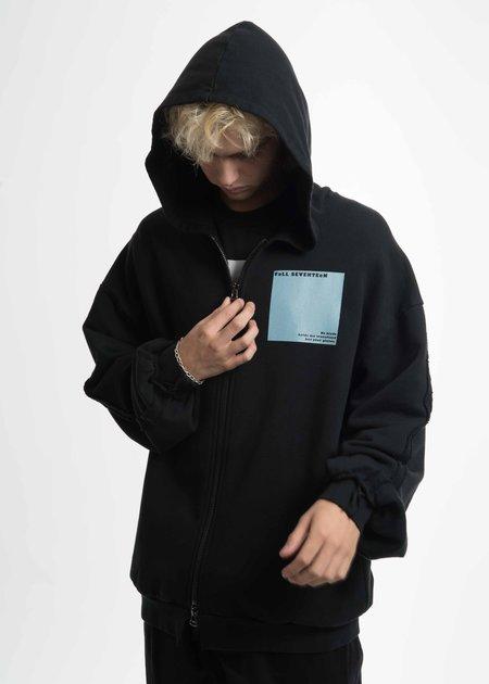 Komakino Black Zipped Hoodie