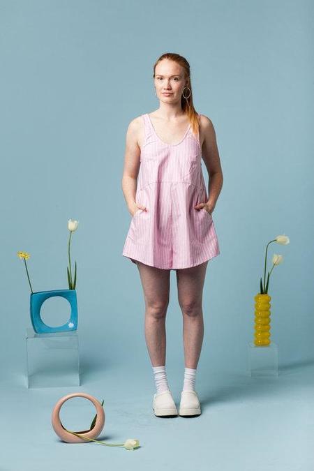 Maggie Jayne Playsuit Mini - Pink Stripe