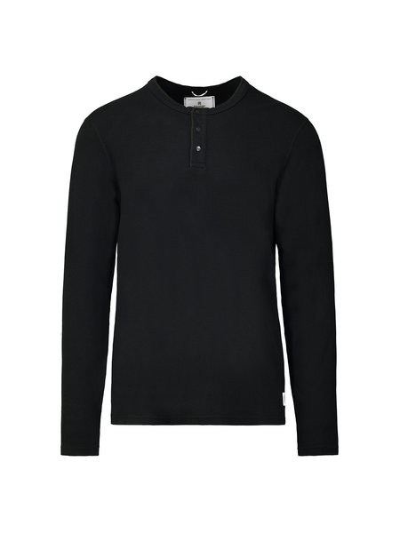 Reigning Champ Knit Mesh Flatback LS Henley
