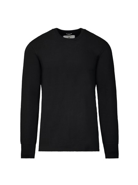 Reigning Champ Knit Mid Weight Terry Scalloped LS Crewneck