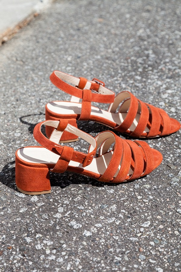 Maryam Nassir Zadeh Palma Low Sandal | coral suede