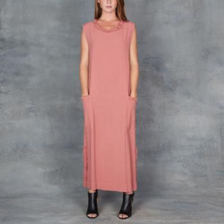 Raquel Allegra Rosewood Muscle Midi Dress