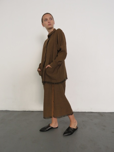 SAMUJI HEMI SKIRT - BROWN
