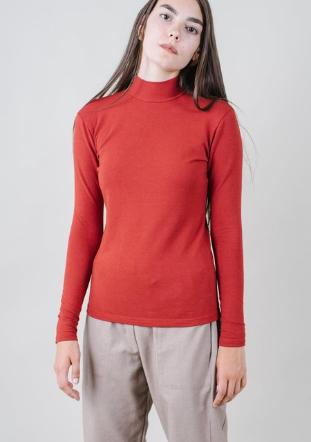 REIFhaus Mock Turtleneck in Nova Red