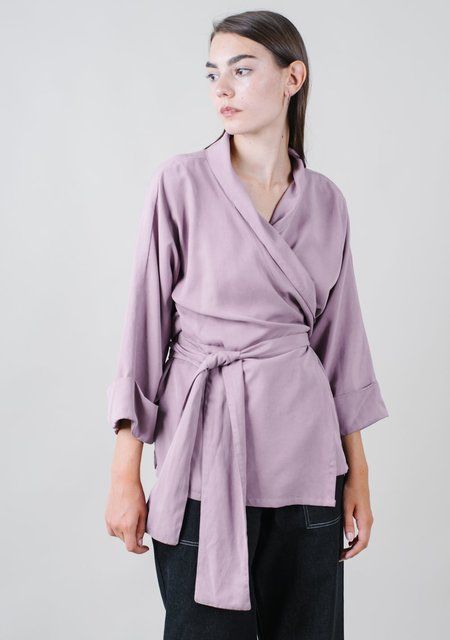 REIFhaus Ramona Wrap Blouse in Orchid
