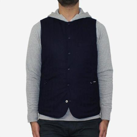Still By Hand Reversible 3M Thinsulate Vest - Navy/Black
