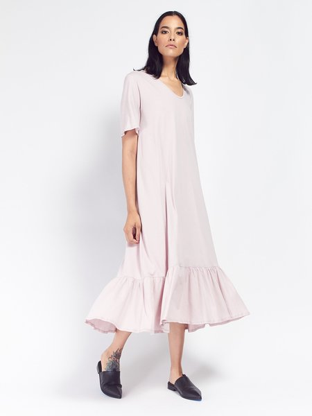 Kowtow Building Block Gather Hem Dress - Powder