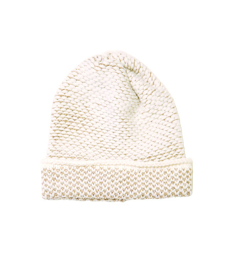 Kordal Seed Stitch Hat - Cream/Camel