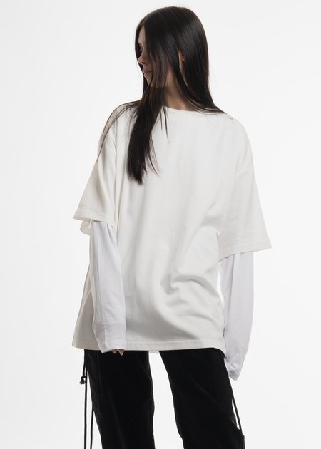 Hyein Seo White Layered T-Shirt