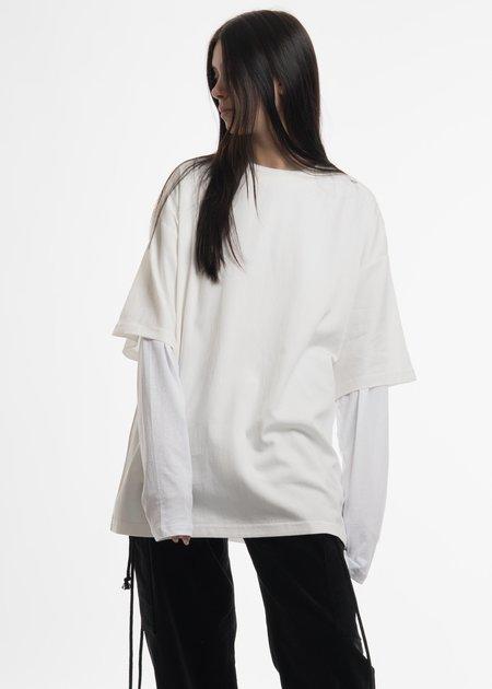 Hyein Seo White Layered T-Shirt