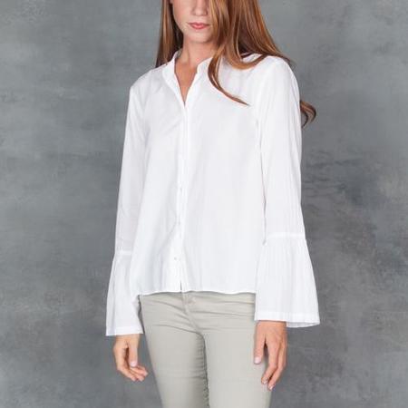 Xirena Bianca Bell Sleeve Shirt in White