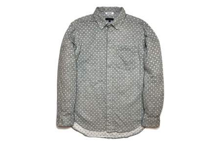 Engineered Garments Short Collar Shirt Heather Grey Polka