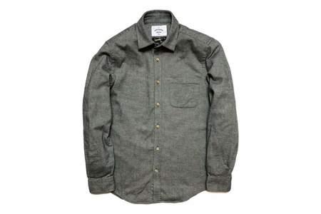 Portuguese Flannel Teca Shirt Lt. Grey