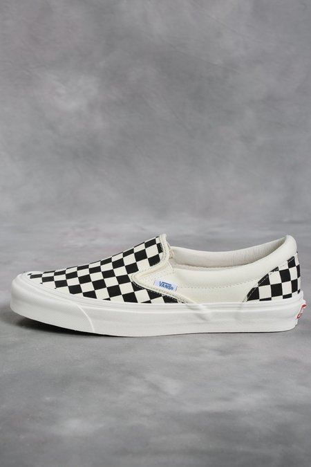 Vans Vault Black & White Checkerboard OG Classic LX Slip-On