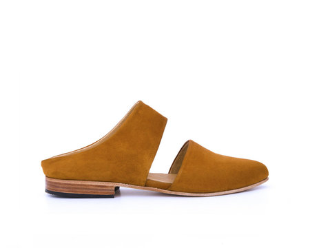 ZOU XOU Mule In Burnt Sienna Suede Instant Ship