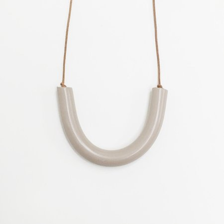 Sea + Pattern - Nude Bar Necklace