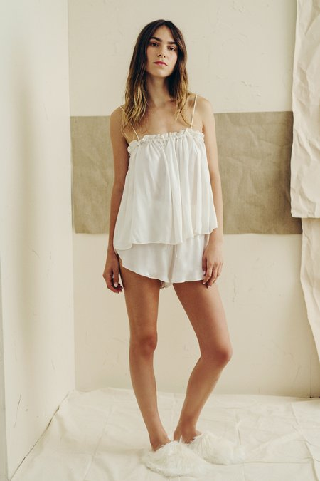 The Great Eros Dia High Waist Short in Pearl