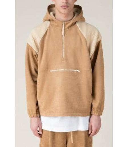 Drole De Monsieur Warm Yolked Hoodie - Light Brown