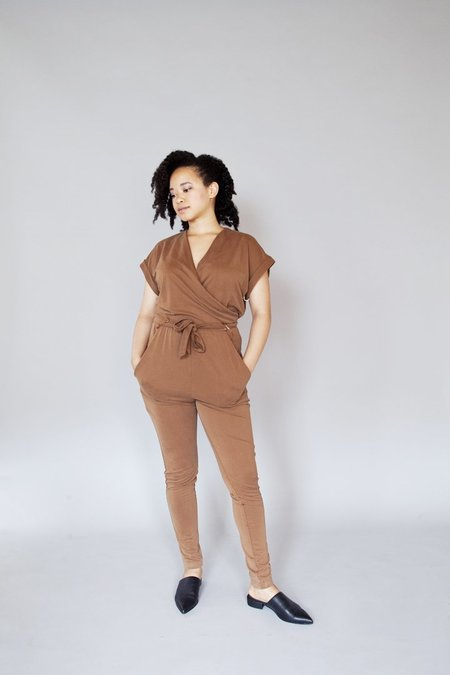 Eve Gravel – Tainted Love Jumpsuit Caramel