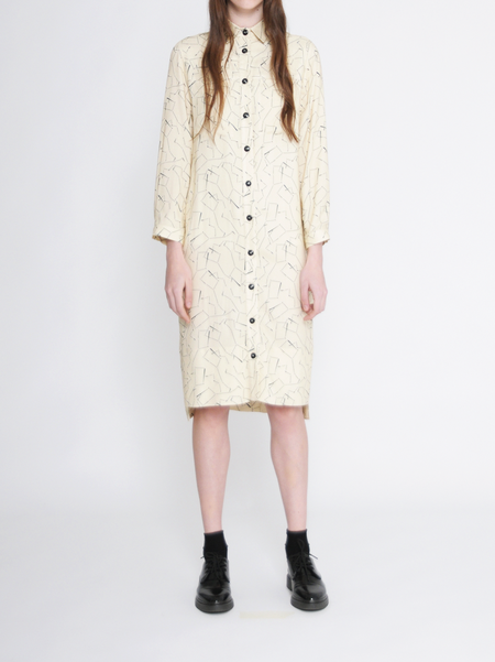 "Diarte ""Carina"" Yellow Printed Shirt Dress"
