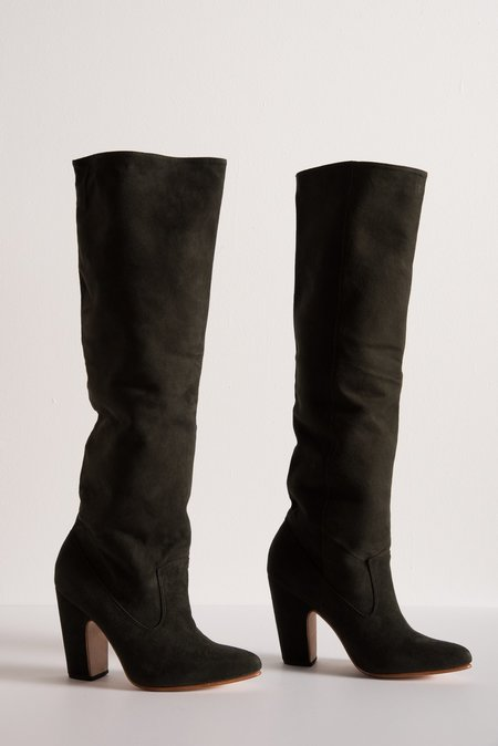 Ulla Johnson Sloane Boot in Army Suede
