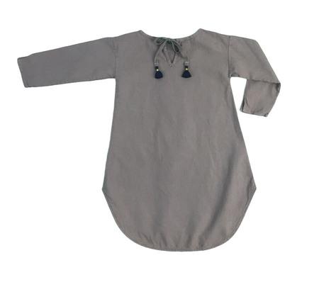 Kid's Malu Organic Wide Dress - Malt