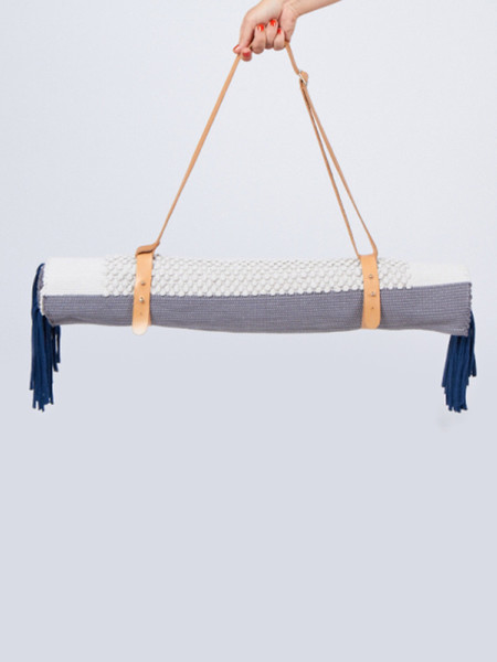 REALITY STUDIO RUG WITH HOLDER - GREY/NAVY/WHITE