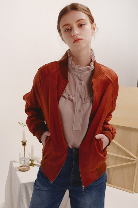 Sculp Crease Bomber Jacket
