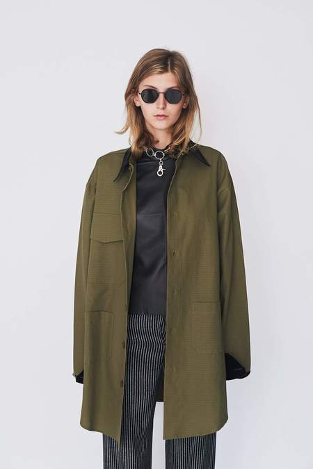 Assembly New York Army Green Chimayo Shirtcoat