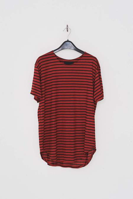 Assembly New York Cotton Striped T-Shirt - Red