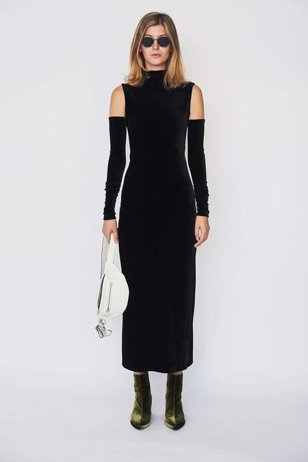 Assembly New York Velvet Turtleneck Dress