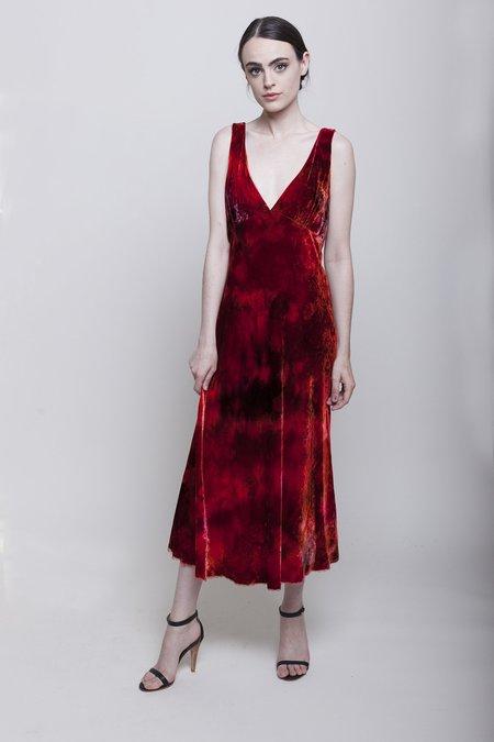 Raquel Allegra Tulip Dress - Ruby Tie Dye