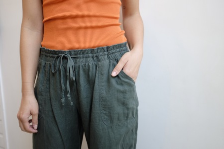 Hey Jude Vintage Forest Linen Easy Pants