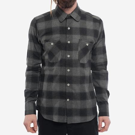 18 Waits The Woodsman Pocket Shirt - Charcoal Check Flannel