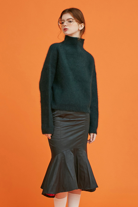 Another Angora Wool Knit- Green