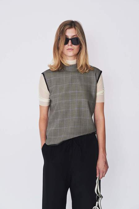 Assembly New York Wool Plaid Mockneck