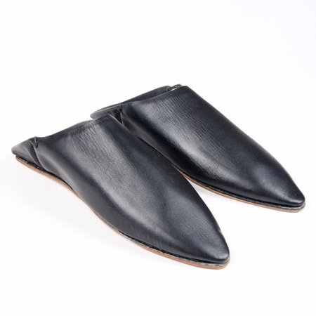 Unisex TWENTY ONE TONNES Black Babouche Slippers