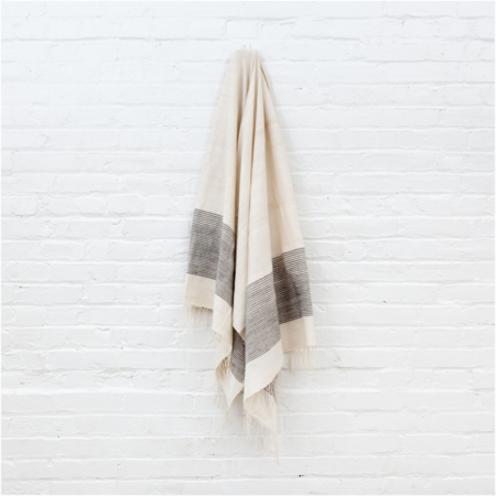 TWENTY ONE TONNES Grey Ribs Bath Towel
