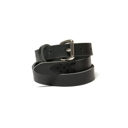 MAPLE Long Belt Woven Stitch - Black