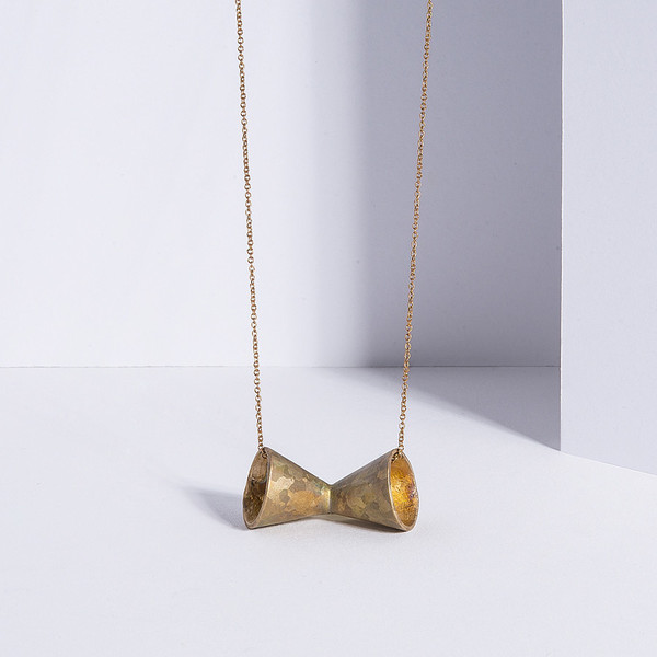 Metalepsis Projects Megaphone necklace | unfinished bronze