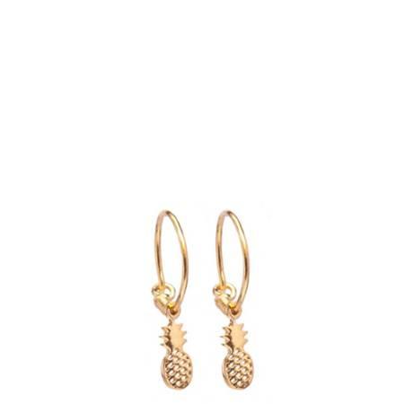 I and I Pineapple Hoop Earrings
