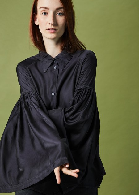Hannes Roether Buffy Bell-Sleeve Blouse