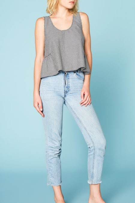 Lacausa Butterfly Tank - Gingham