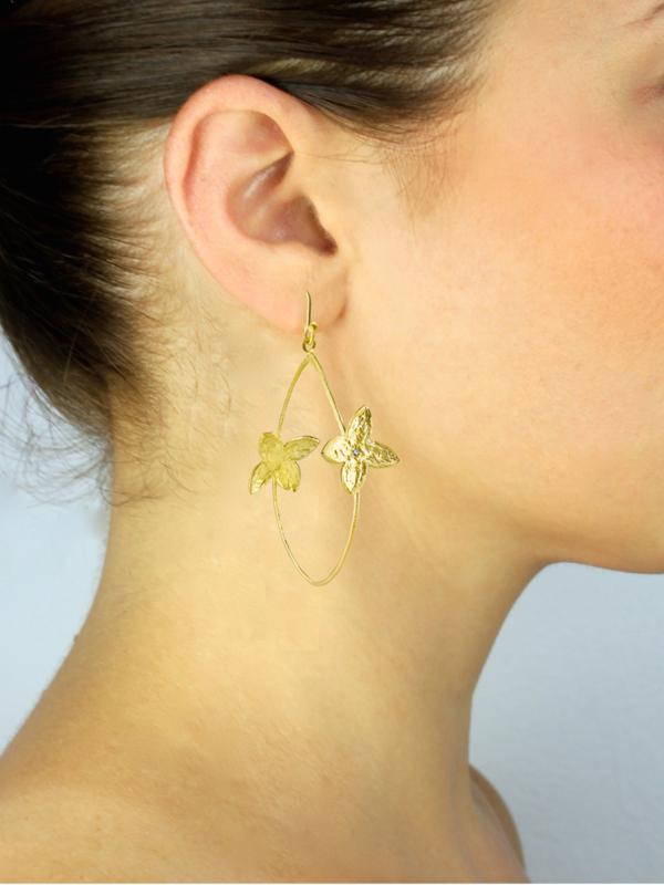 SíSí Design Gold Double Jasmine Hoops
