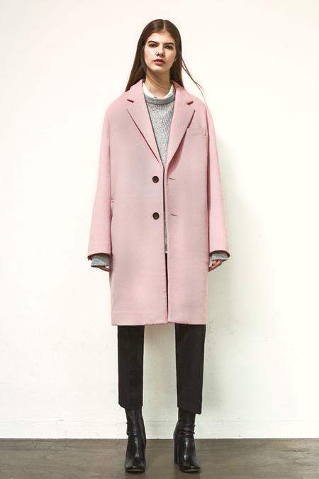 A. B Joseph Wool Coat- Pink