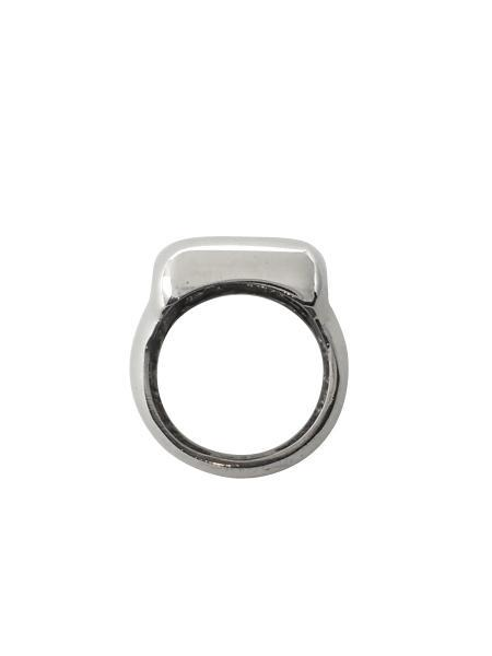 Beth Vintage Jewelry Rounded Square Signet Ring / Sterling Silver