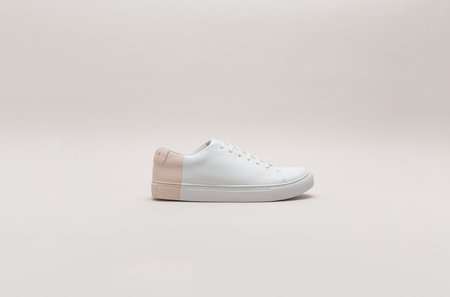 THEY New York Two-Tone Low in White/Blush