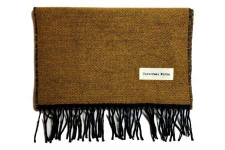 Universal Works Double Sided Scarf Mustard & Navy