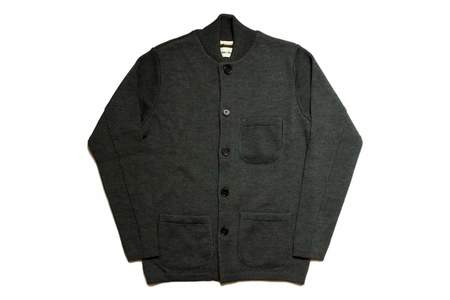 Universal Works Knit Work Jacket Charcoal