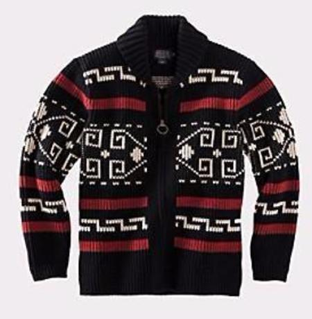 Pendleton The Original Westerley Sweater - Black/Cream